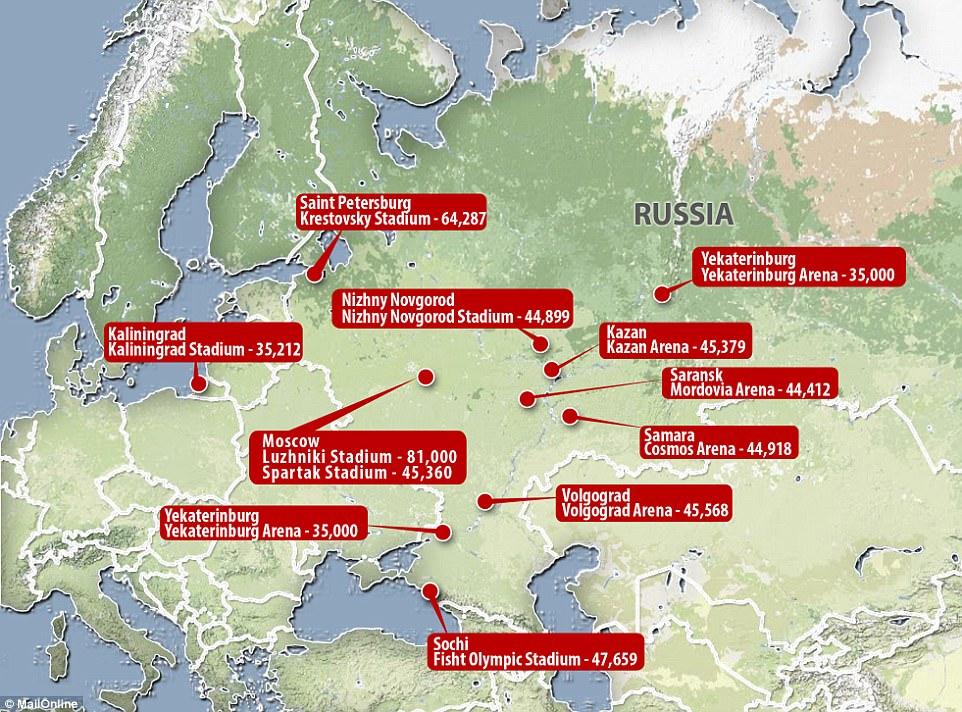 fifa russia map